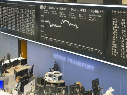 Germany, Hesse, Interior of the Frankfurt Stock Exchange - AM001147