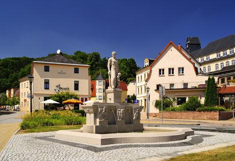 Germany, Saxony, Glashuette, fountain - BTF000289