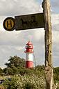 Germany, Schleswig-Holstein, Flensburg Fiord, Lighthouse Falshoft - JEDF000029