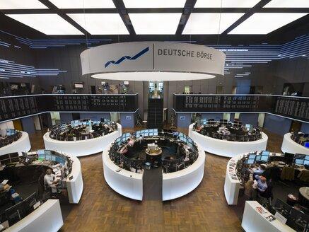 Germany, Hesse, Interior of the Frankfurt Stock Exchange - AM001152