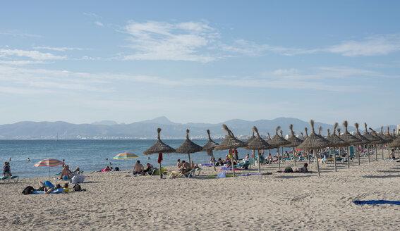 Spain, Balearic Islands, Majorca, Palma, Platja de Palma, beach - HL000287