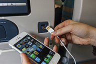 Smart phone and USB socket in airplane seat - AM001165
