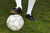 Legs of a soccer player, close-up - STKF000664