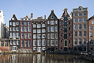 Netherlands, Amsterdam, Typical houses at town canal - WI000157