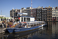 Netherlands, Amsterdam, Mooring area for boat trip - WI000159