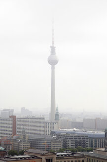 Germany, Berlin, Roof top view with TV tower - JMF000263