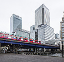 UK, London, Docklands, Docklands Light Railway at financal district - DISF000160