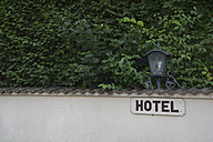 Hotel sign with a lamp - AXF000527
