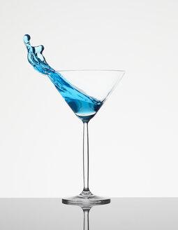 Blue curacao in martini glass - AKF000255