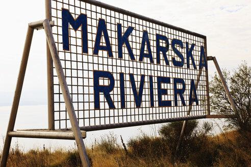 Croatia, Sign marking the beginning of the Makarska - MS003037