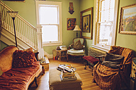 USA, Washington D.C, Interior of a French style home - MBE000867