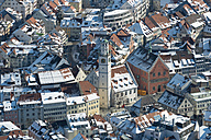 Germany, Baden-Wuerttemberg, Ravensburg, Cityscape in winter, aerial view - SH001007
