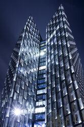 Germany, Hamburg, Modern skyscrapers Dancing Towers - NKF000033