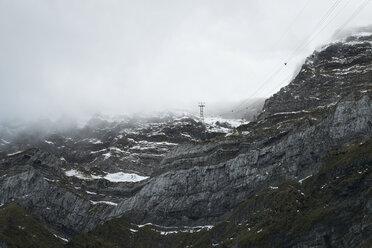 Switzerland, Canton of St. Gallen, Saentis, cloud - ELF000646
