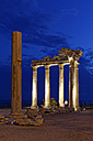 Turkey, Side, Temple of Apollo at dusk - SIE004700