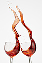 Red wine in wine glasses - AKF000259