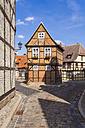 Germany, Saxony-Anhalt, Quedlinburg, Timber-framed houses at Finkenherd - WDF002091