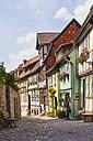 Germany, Saxony-Anhalt, Quedlinburg, Timber-framed houses - WD002051