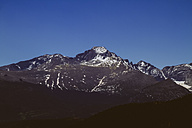 USA, Colorado, Rocky Mountain National Park, Longs Peak and Mount Meeker - MBE000921