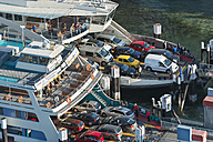 Germany, Baden-Wurttemberg, Meersburg, Cars on ferry - SH001080