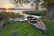 Germany, Baden-Wurttenberg, Reichenau Island, Boats on Lake Constance near Mittelzell - SH001102