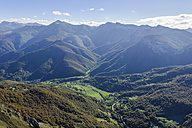 Spain, Cantabria, Picos de Europa National Park, View from Mountain station El Cable - LAF000315