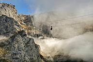 Spain, Cantabria, Picos de Europa National Park, Cable car at mountain massif Pena Remona - LA000340