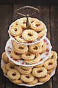 Traditional spritz cookies on etagere - ECF000393
