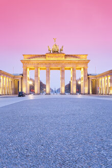 Germany, Berlin Brandenburg Gate in the evening - MSF003125