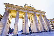 Germany, Berlin Brandenburg Gate in the evening - MS003104