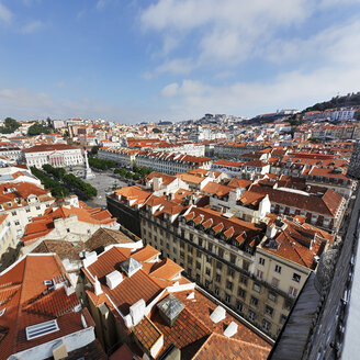 Portugal, Lisboa, Baixa, view to Praca Dom Pedro IV - BIF000105