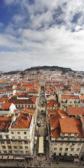 Portugal, Lisboa, Baixa, bird's eye view of the city - BIF000106