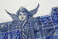 Portugal, Lisbon, Alfama, Miradouro de Santa Luzia, azulejos - BIF000128