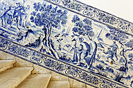 Portugal, Lisbon, Alfama, monastery of Sao Vicente de Fora, part of tableau with azulejos - BI000135
