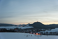 Germanyy, Rhineland-Palatinate, Rhein valley, Niederduerenbach with Olbrueck Castle in winter - PA000046