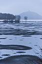 Germanyy, Rhineland-Palatinate, Rhein valley, Rodder Maar, Olbrueck Castle in winter - PA000049
