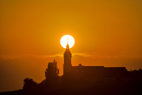 Germany, Baden-Wurttemberg, Birnau, Baroque church at sunset - SH001151