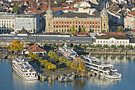 Germany, Baden-Wurttemberg, Constance, Aerial view of harbour - SH001121