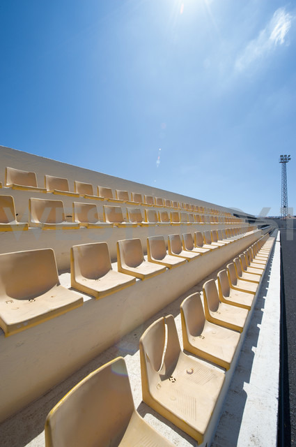 Spain, Fuerteventura, Corralejo, grand stand of Estadio Municipal - VI000113 - visual2020vision/Westend61