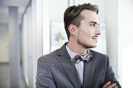Germany, Neuss, Portrait of a business man - STKF000847