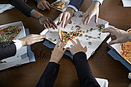 Germnay, Neuss, Hands reaching for pizza - STKF000867