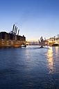 Germany, Hamburg, Parkhafen, harbour, Elbe, container ship - MS003127