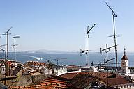 Portugal, Lisbon, Bica, View from Miradouro de Santa Catarina to Tejo - BIF000178