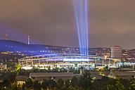 Germany, Baden-Wuerttemberg, Stuttgart, Neckarpark, Mercedes-Benz Arena by night - WD002123