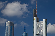 Germany, Hesse, Frankfurt am Main, European Central Bank, Maintower, HeLaBa and Commerzbank Tower - WG000119