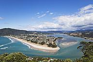 New Zealand, Coromandel Peninsula, View of Pauanui village and beach - GW002421