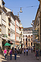 Germany, Hesse, Wiesbaden, Restaurants and stores in the Marktstrasse - WD002133