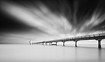 Germany, Mecklenburg-Western Pomerania, Usedom, pier in the sea, long exposure - WA000022