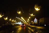 Driving by night at wintertime - NDF000410