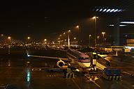 Netherlands, Amsterdam, Schiphol Airport at night - BI000186